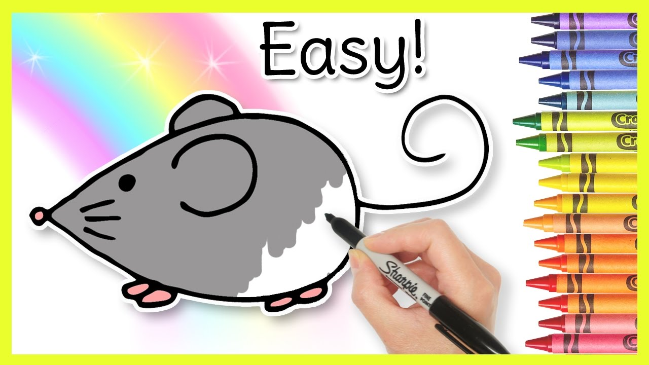 how to draw a mouse youtube