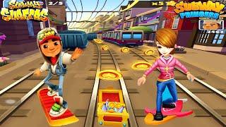 WHO WILL WIN??? Subway Princess Runner V/S Subway Surfers - Hoverboard Run | Android/iOS Gameplay HD screenshot 3