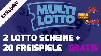 MultiLotto Casino Test + EXKLUSIV: 2 gratis Tippscheine, 20 Free Spins + 300% Bonus