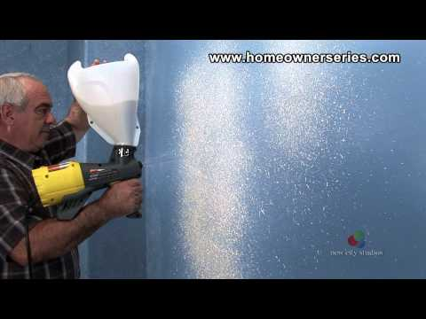 How to Texture Drywall - Orange Peel Knock Down Texture - Drywall Repair