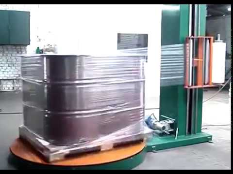 Chemical Drum Pallet Stretch Wrapping Machine Youtube
