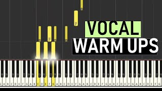 ♬ VOCAL WARM UPS #4 MAJOR - UP/DOWN (3 Octaves) - By Soulp...