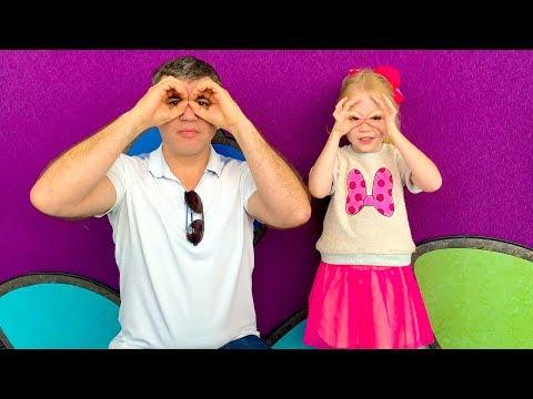 Nastya and dad