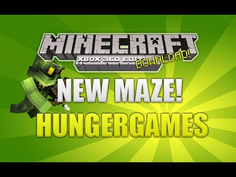 Minecraft Xbox 360 - NEW Maze HungerGames Map W/ Download (NEW MAP)