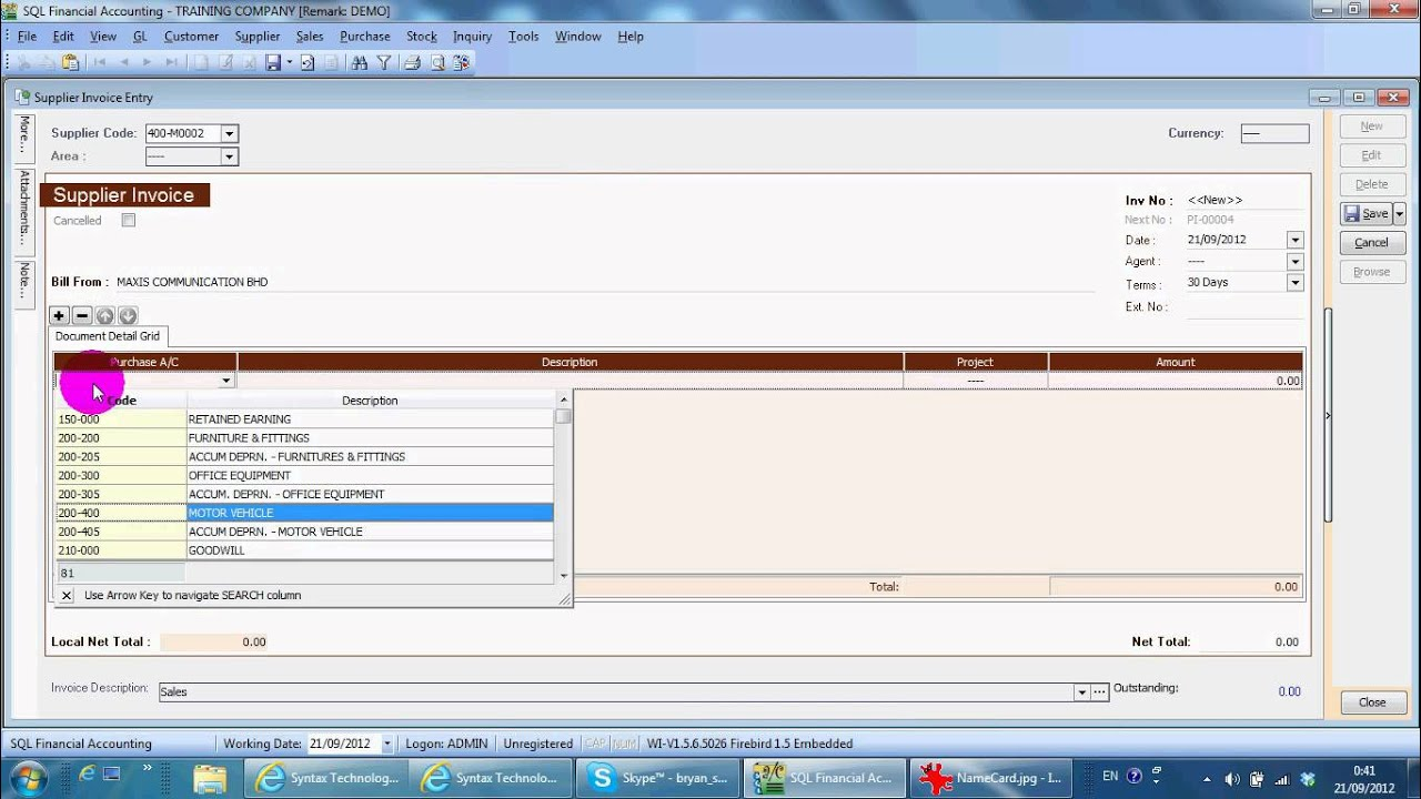 A Supplier Invoice SQL Accounting Software YouTube - What is invoice in accounting