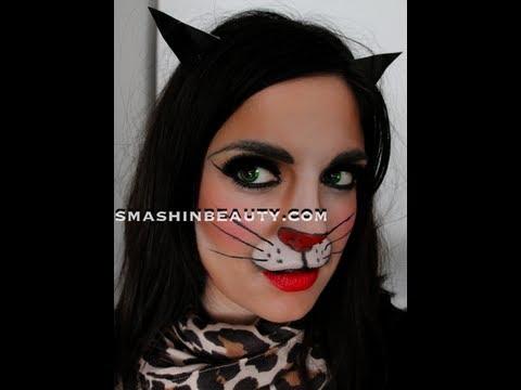 Kitten Halloween Makeup Tutorial - YouTube