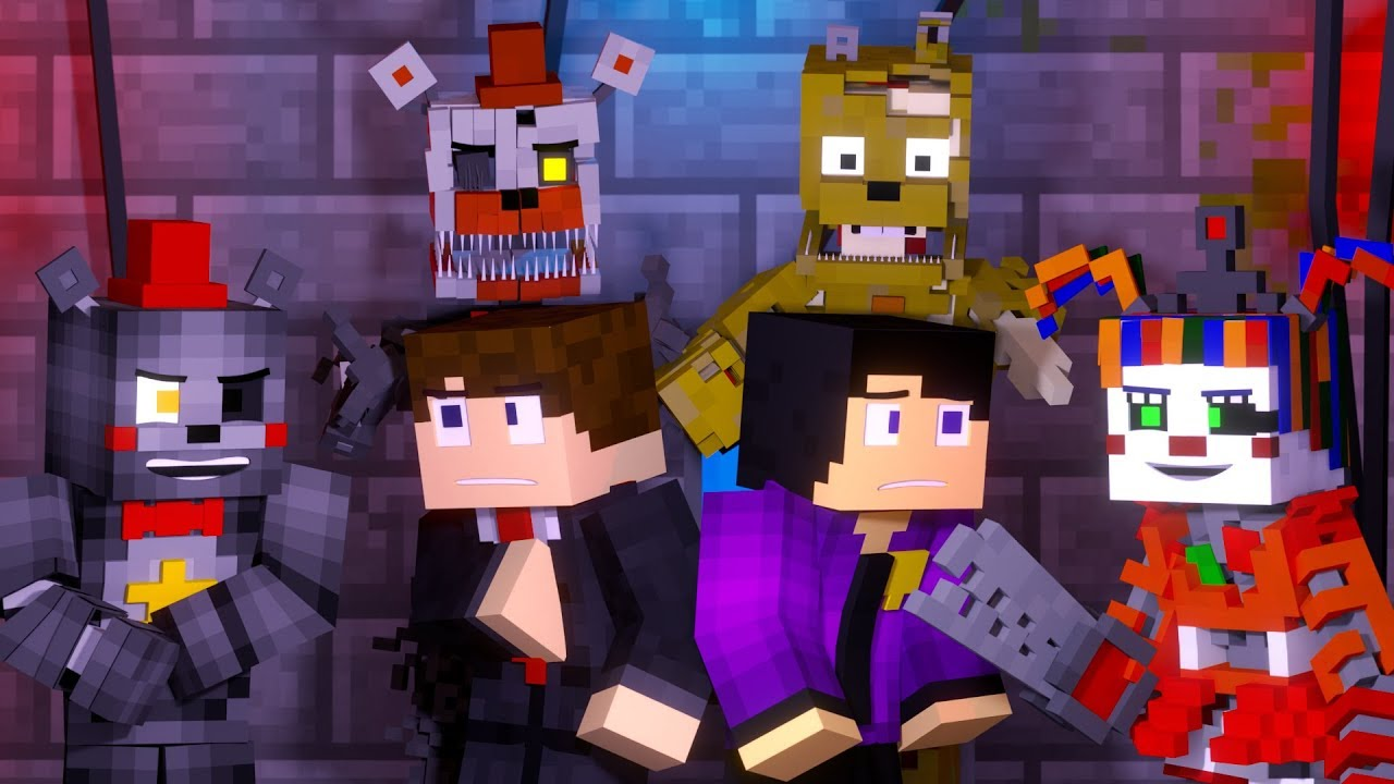 Lots Of Fun Fnaf 6 Minecraft Music Video 3a Display Song By