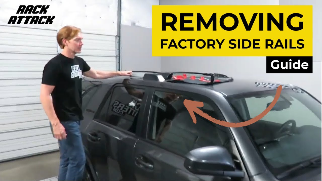 Removal Of Factory Side Rails On The 2010 Gen 5 Toyota