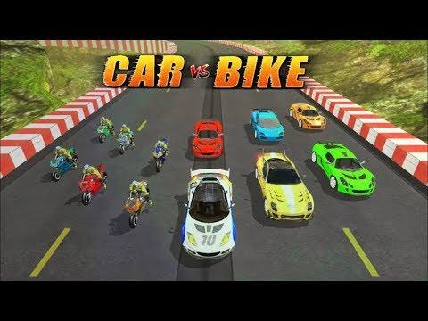 Juego De Carros Y Motos Para Niños - Car Vs MotorBike Racing