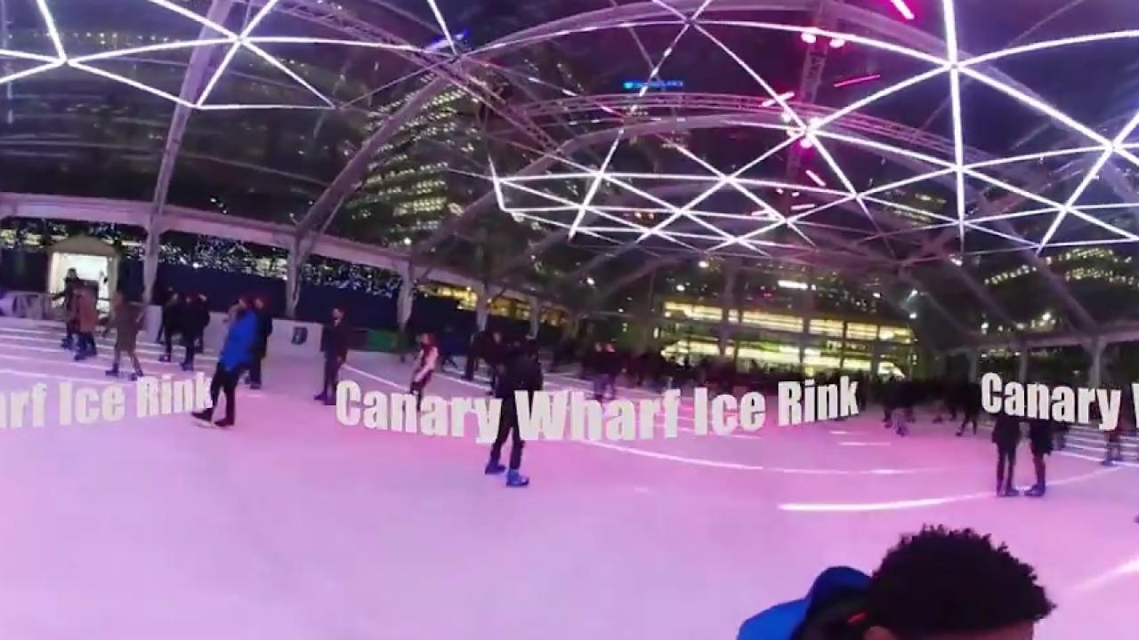 luminocity in 360 canary wharf ice rink youtube