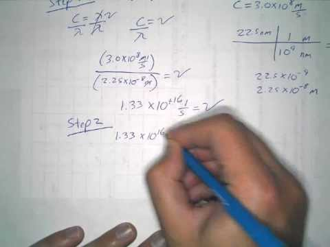 Energy, Frequency, Wavelength equation and example ...