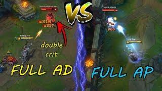 Full AD LUCIAN vs. Full AP LUCIAN!! DOUBLE CRIT x ONESHOTS! [ League of Legends ]