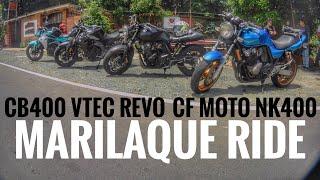 CB400 Vtec Revo Riding with Nk400 cfmoto / Drag Race, Street race, MARILAQUE RIDE part 1