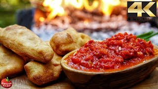 You NEVER saw this food before! - AJVAR Recipe + Crispy Langos Bread