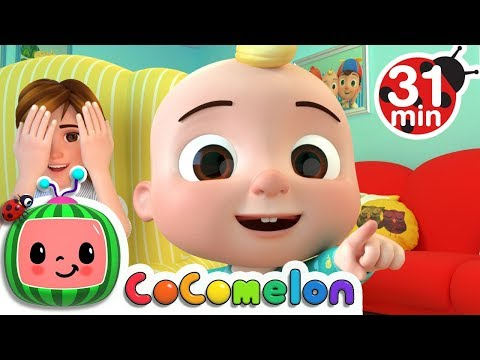 Peek a Boo Song  +More Nursery Rhymes & Kids Songs  ABCkidTV