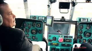 Вертолет Ми-8 (посадка в на болото, забор воды из реки)