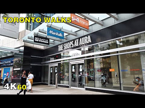 Downtown Toronto's Dead Mall - The Shops at Aura Walk on Sept 3, 2020 [4K]