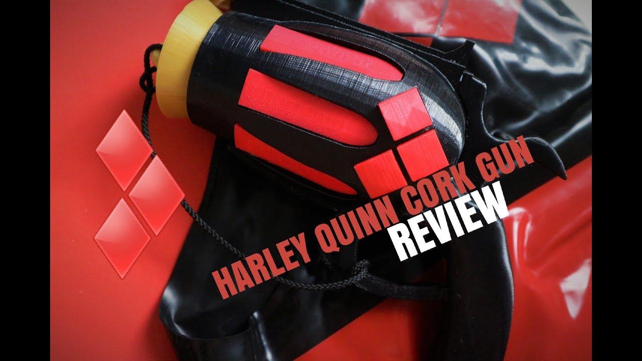 Functioning Parts Suicide Squad Cosplay Prop Harley Quinn Cork Pop Gun