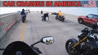 CAR CRASHES IN AMERICA (USA) NORTH AMERICAN DRIVING FAILS 2018