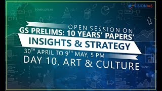 GS Prelims : 10 Years' Papers' Insights & Strategy | Part 10 - Art & Culture