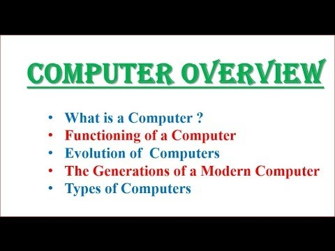 Computer Overview Computer Science With C