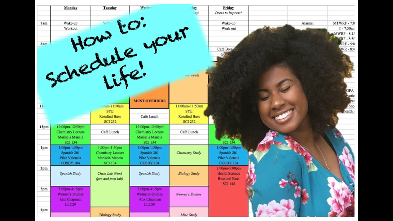 get your life   how to create a schedule  college  studying  time management  organization