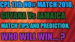 Today Guyana Amazon Vs Jamaica Talaawash  Match Tips And Predictio,