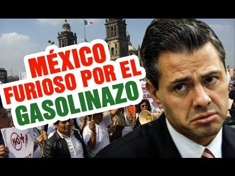 GASOLINAZO: MARCHAS, PROTESTAS Y SAQUEOS EN MÉXICO - PEÑA NIETO MIENTE Y DICE QUE NO ES SU CULPA