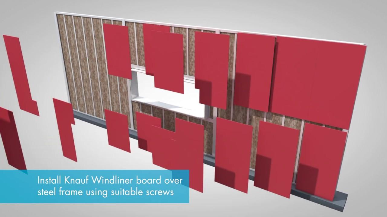 Knauf Insulation - Earthwool® RainScreen Slab Install Animation