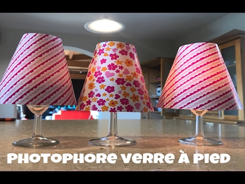 Lampe photophore verre pied youtube for Plaque de verre pour table
