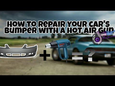 How to repair your car's bumper with a hot air gun |Car tuning Gr🔥