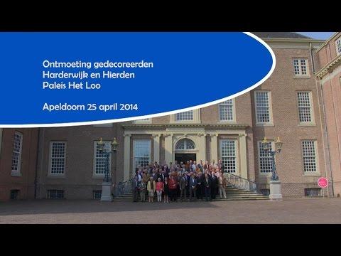 Ontmoeting gedecoreerden Harderwijk en Hierden Paleis Het Loo - 25 april 2014