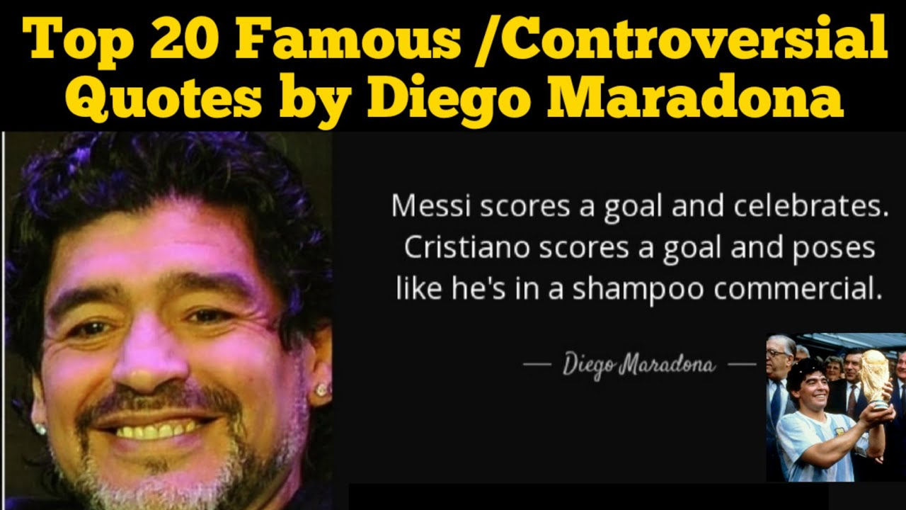 Footballer Diego Maradona dies at 60: Top 20 Most Famous/ Controversial Quotes by Argentinian Legend