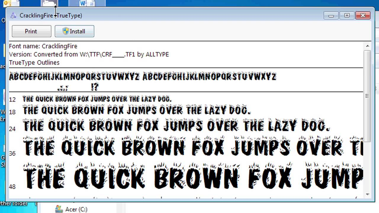 how to add font to office word