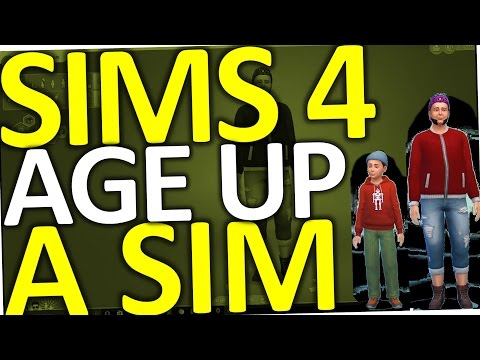 Sims 4 How to Age Up A Toddler, a Child or a Sim (Cheat)