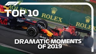 Top 10 Dramatic F1 Moments of 2019