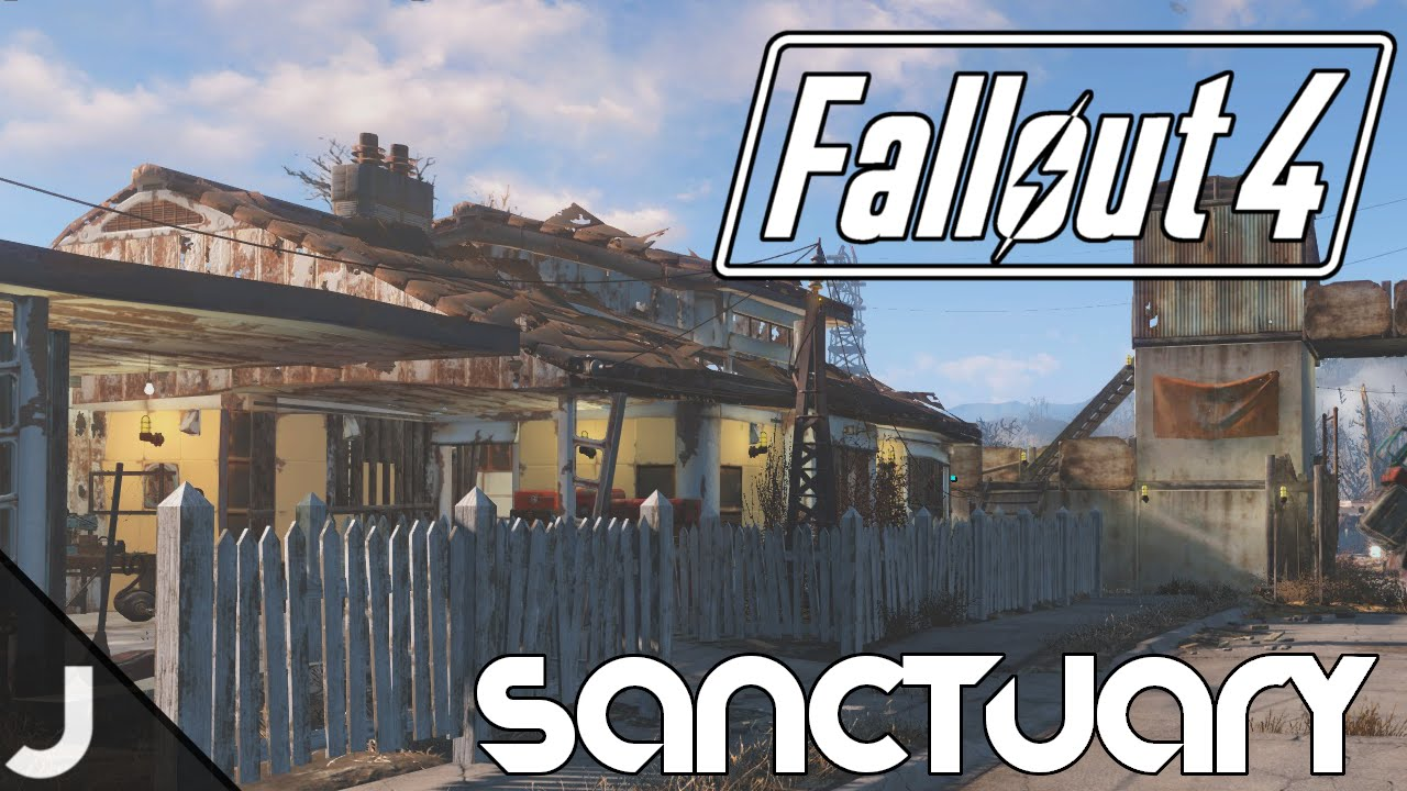 Fallout 4 How To Put A Roof On Sanctuary Homes Without