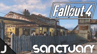 Fallout 4 - How to Put a Roof on Sanctuary Homes! [Without Mods]