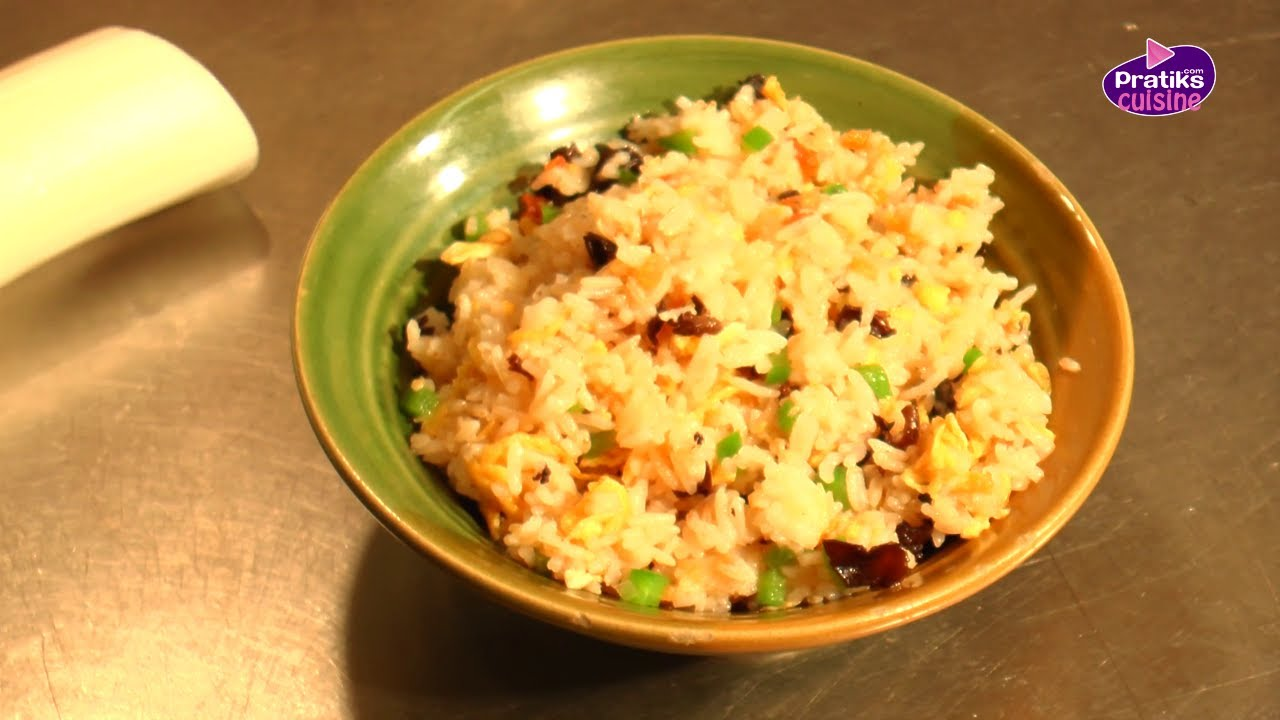 Cuisine Chinoise  Comment cuisiner un riz saut  YouTube