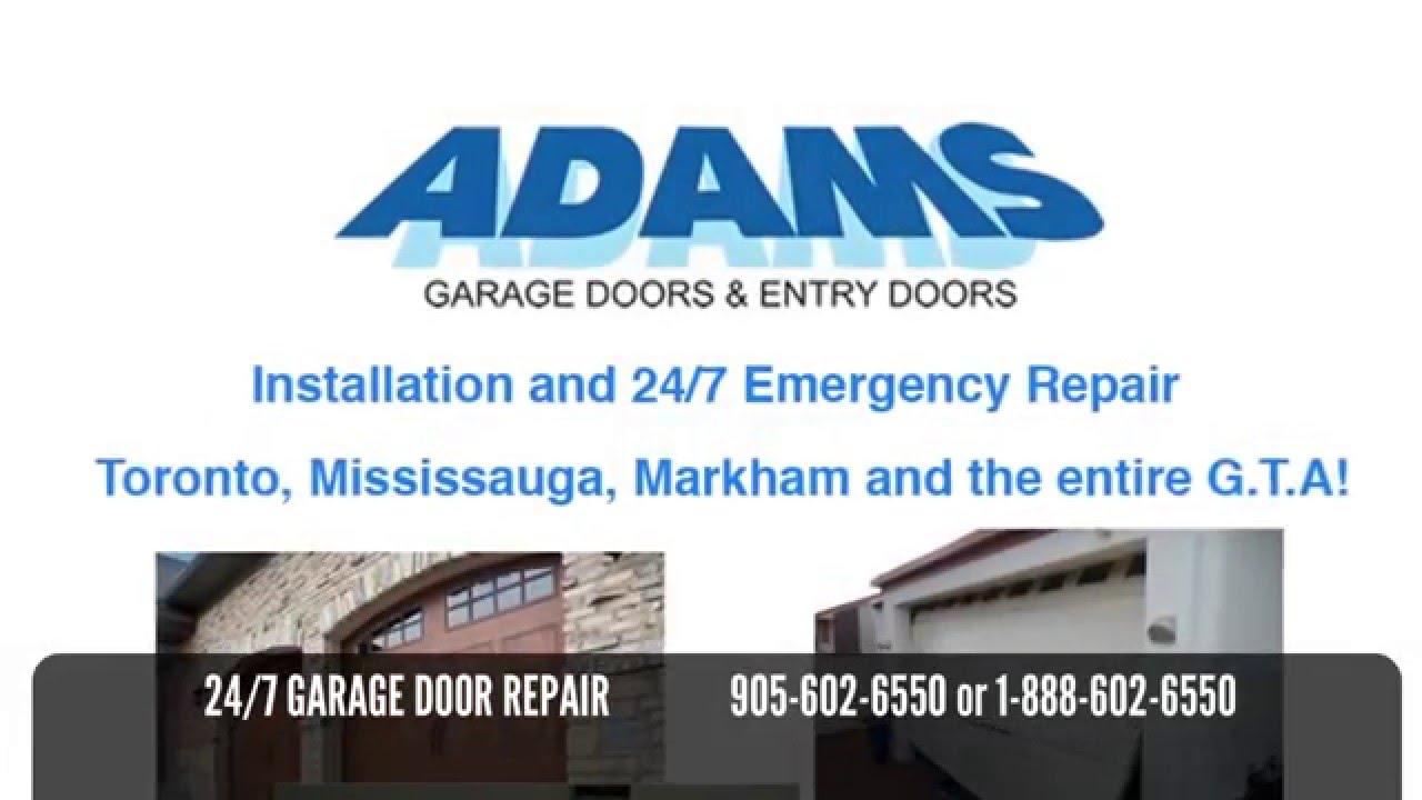 Garage Door Repair Mississauga Markham Toronto And The Gta Youtube