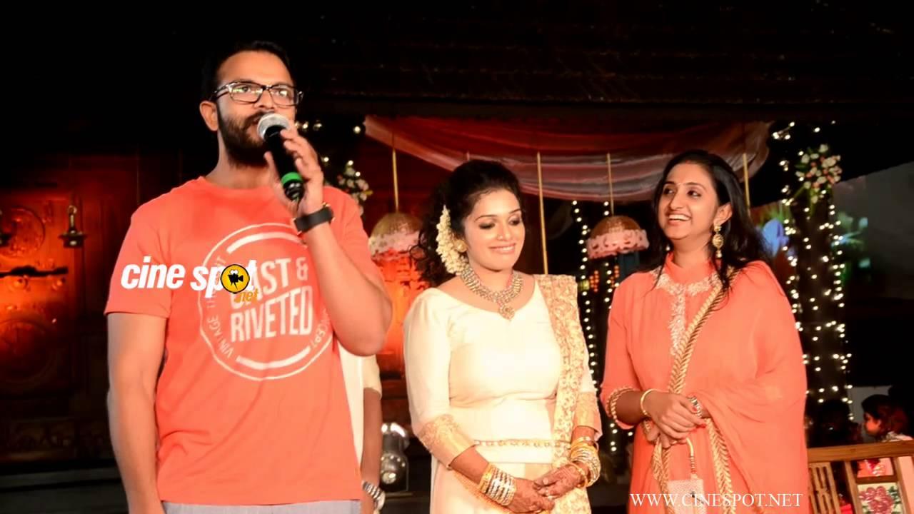 jayasurya  u0026 family at ann augustine wedding reception video