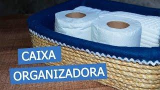DIY - CAIXA ORGANIZADORA (com caixa de sapato) - Decorando em 1 minuto #2