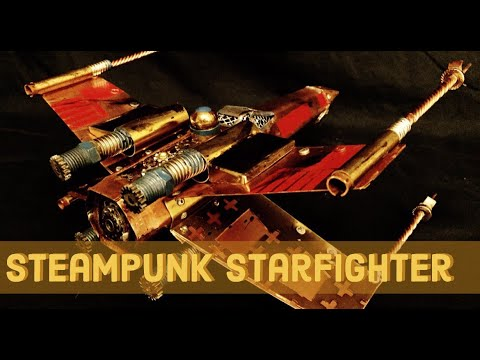 Steampunk X-Wing Starfighter