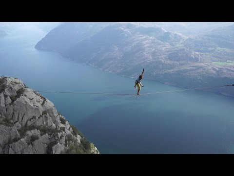 The Slackline Guys do Preikestolen in Norway