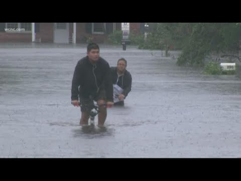 Flooded Streets In Jacksonville, North Carolina