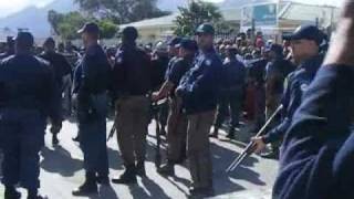 Hundreds of residents in Masiphumelele in Cape Town went on the rampage on the 30th of July 2009, to demand better housing.