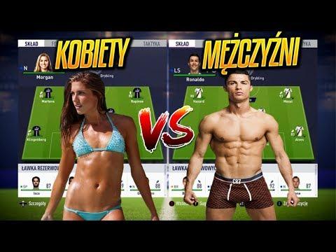 KOBIETY vs MĘŻCZYŹNI | FIFA18 EKSPERYMENT