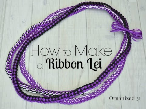 How To Make A Ribbon Lei Youtube