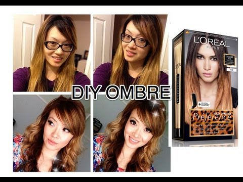 How I Dyed My Hair Light Brown Blonde Ombre Youtube