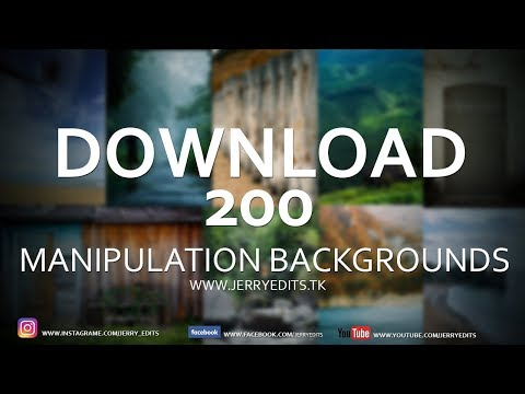 Download 200 HD Backgrounds For Manipulation | Photoshop Tutorial | By Jerry Edits